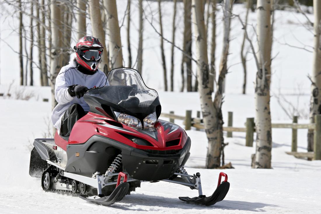 Езда на снегоходе без прав