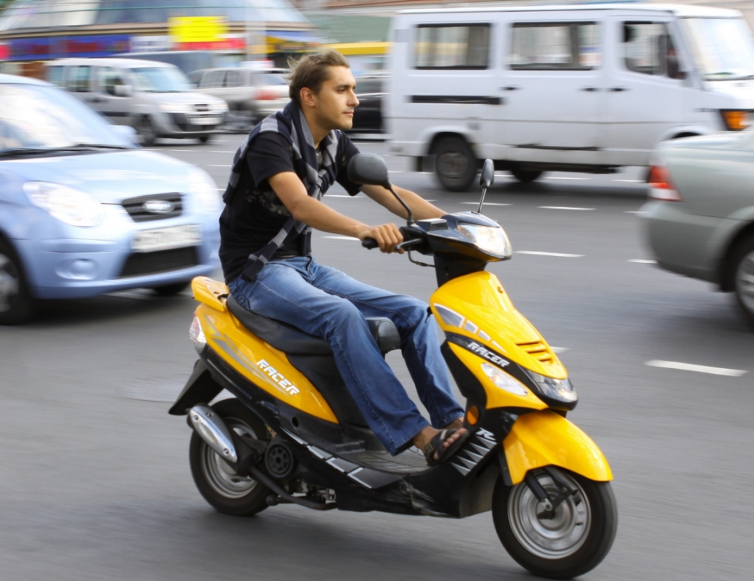 Езда на скутере без прав
